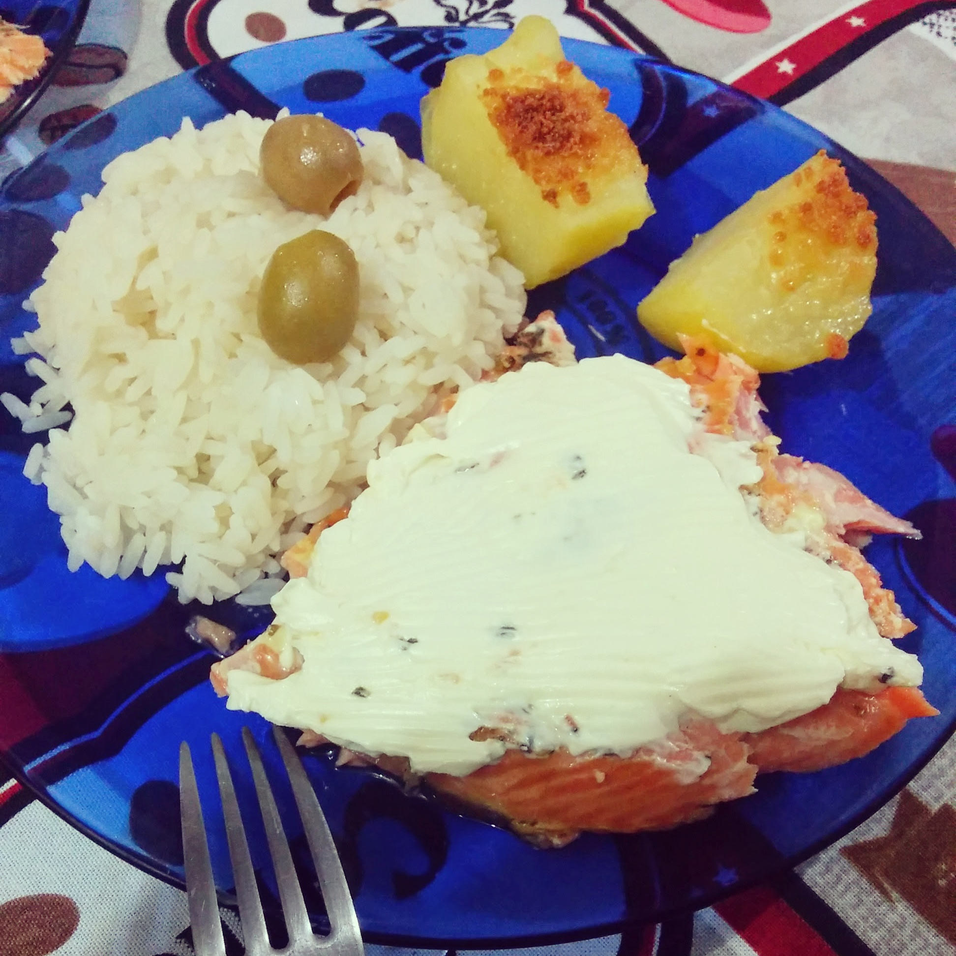 salmão com cream cheese