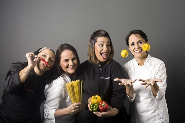 Andrea Souto, Giovana Moyses, Marcela Bourguignon e Cinthia Paixa¦âo