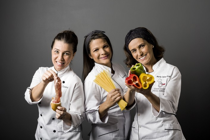 Giana Tonini, Carolina Morais e Malu Gireli