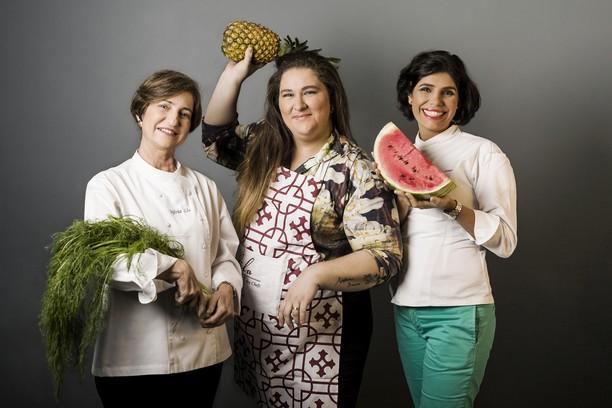 Sylvia Lis, Luiza Daher e Cleuza Costa