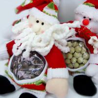 Bonequinhos_Papai Noel e Boneco de Neve_recheados de crocante branco ou ao leite_150g