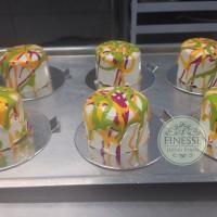 entremet de maçã caramelada individual