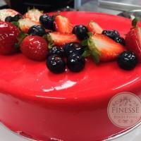 entremet frutas vermelhas