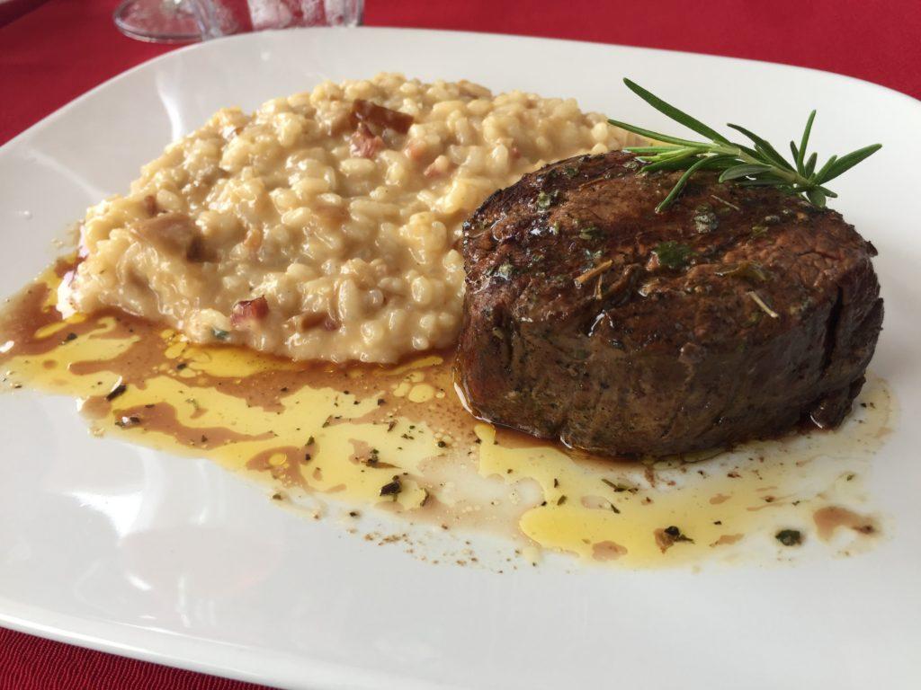 Tornedor com Risoto de Pancetta (R$ 69)