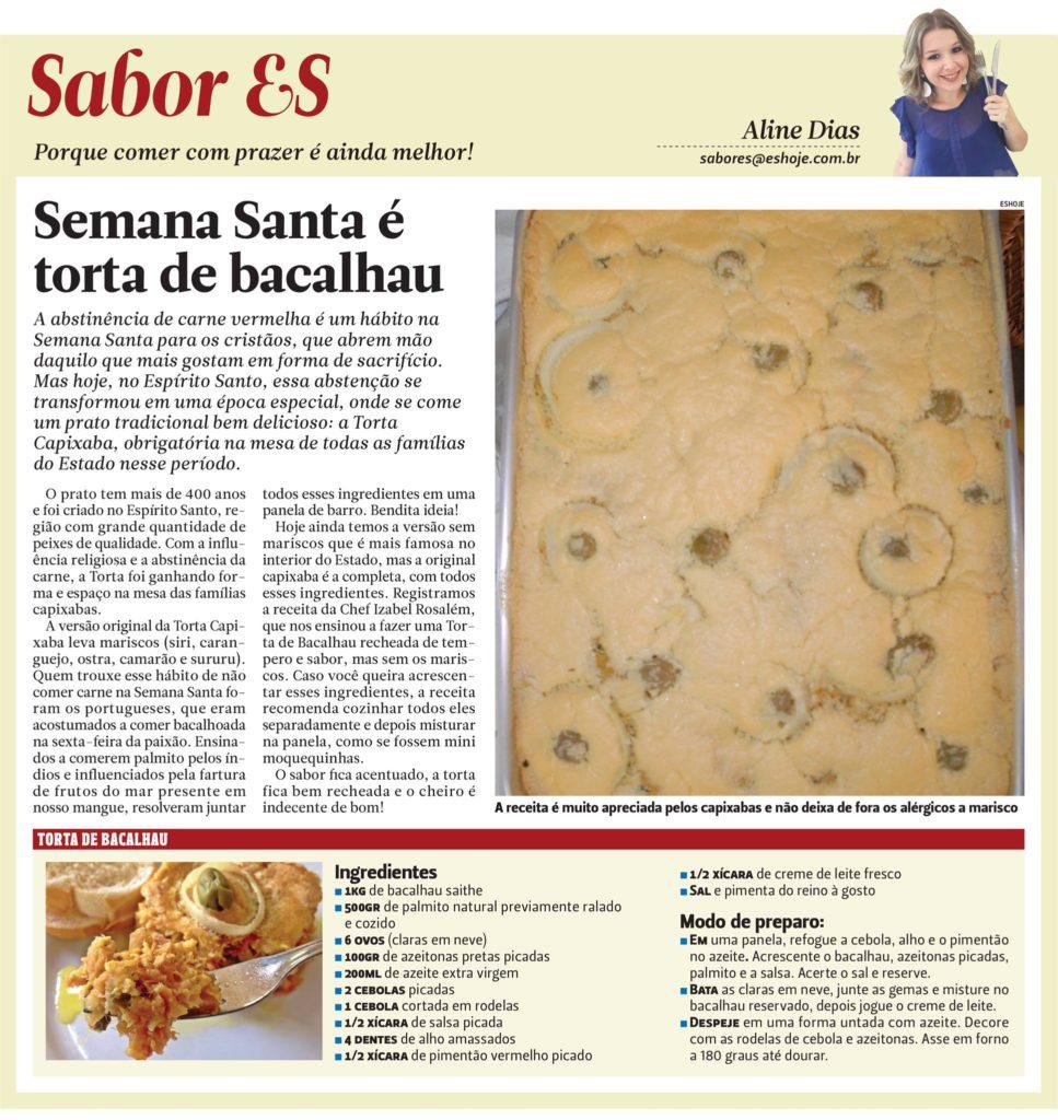 Torta de Bacalhau que agrada a todos os paladares, inclusive os alérgicos! rs