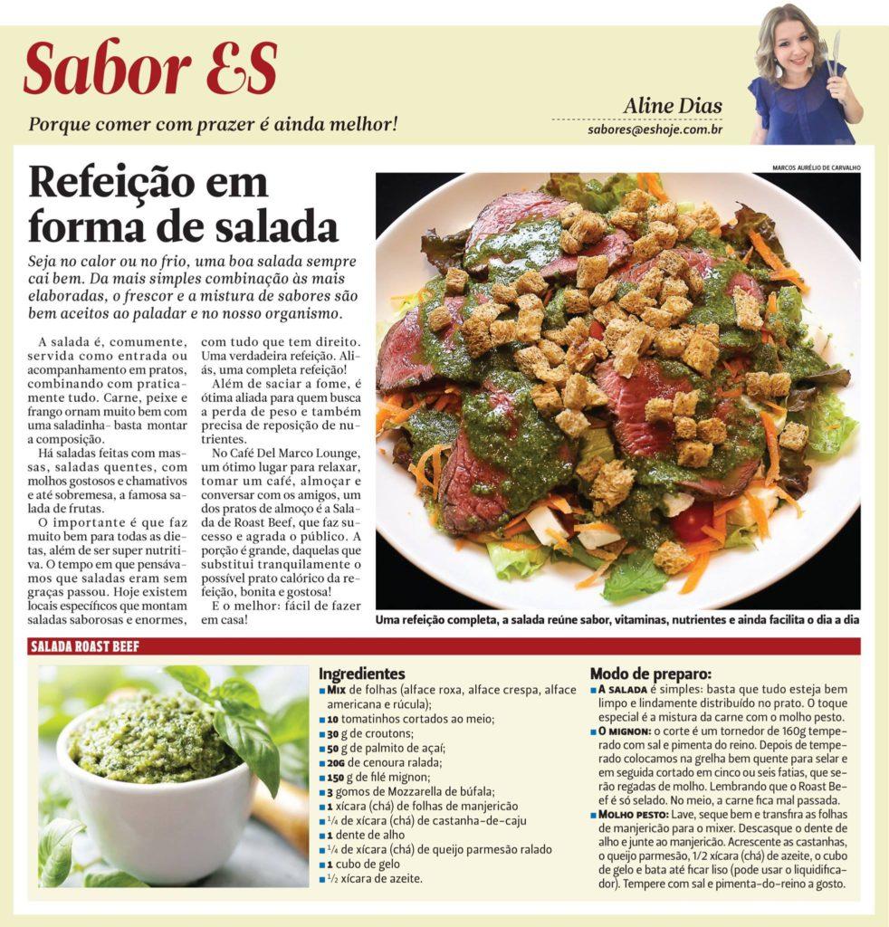 Salada Roast Beef, - Fácil de montar, saborosa de comer!