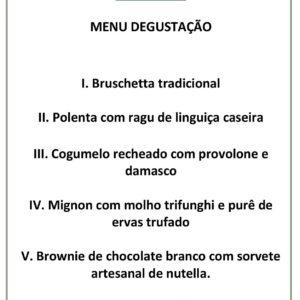 menu degust