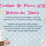 Cardápio de Páscoa 2018 – Delícias das Simões-01