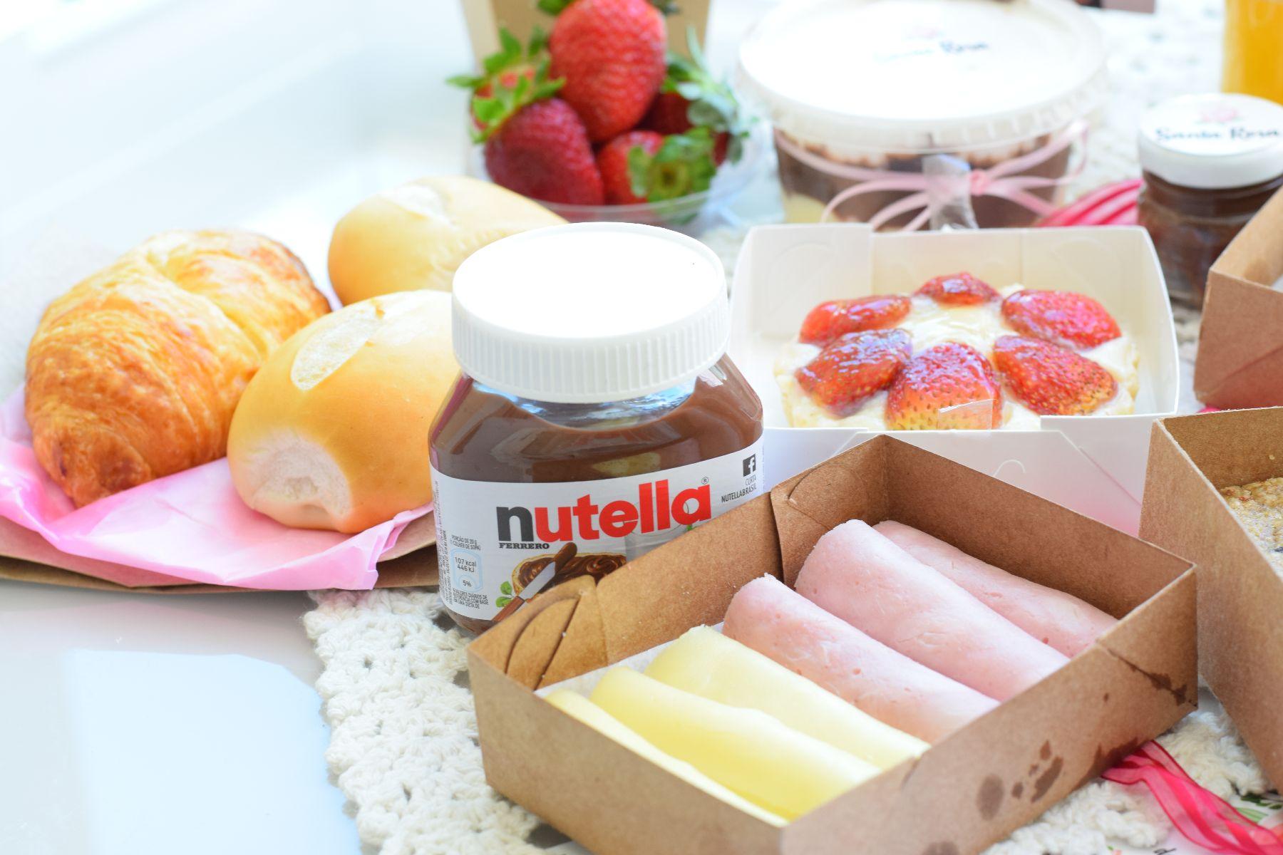 Santa Rosa - produtos da cesta de café da manhã