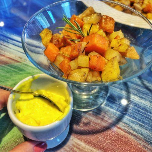 salada assada com aioli
