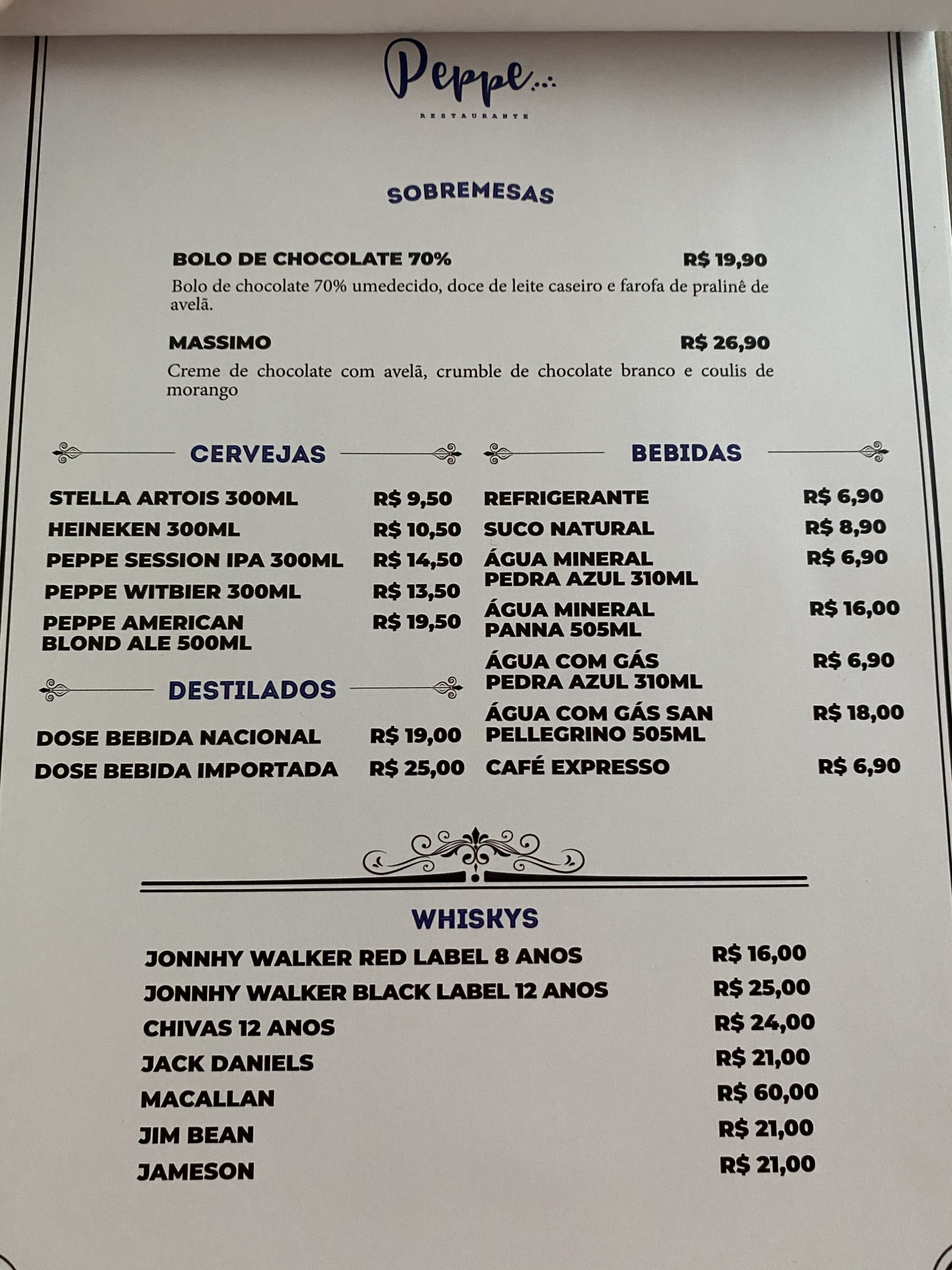 cardápio peppe restaurante 3