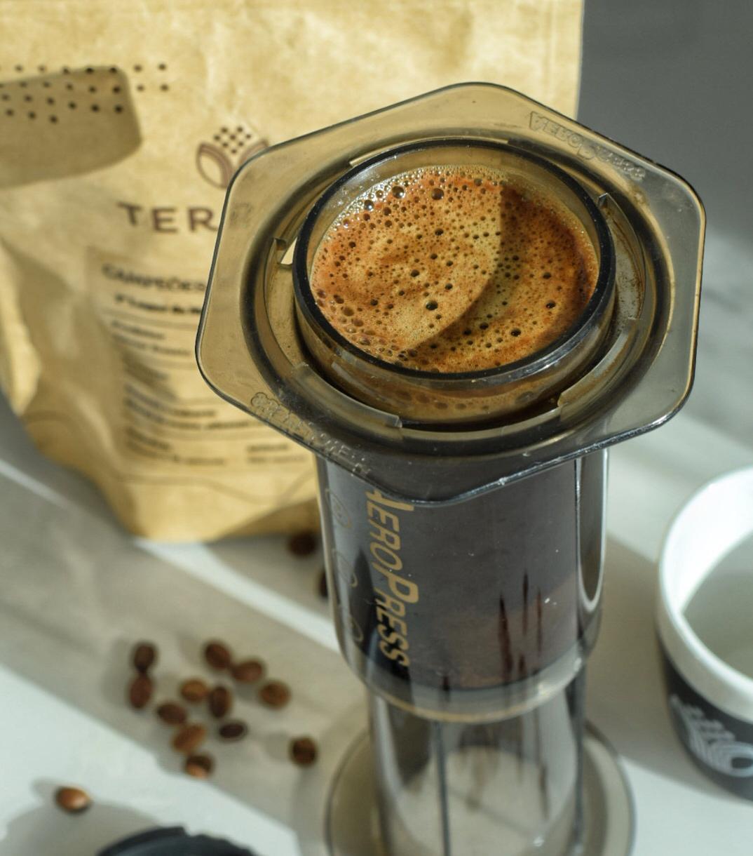 métodos de preparo de café - aeropress